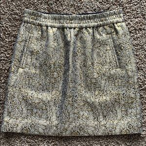 Loft Gold Brocade Skirt